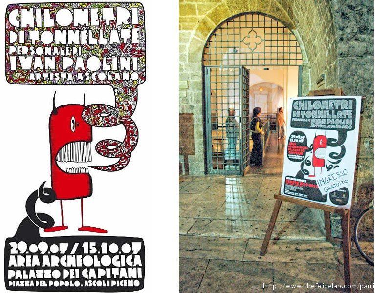 Copertina del catalogo, entrata alla mostra